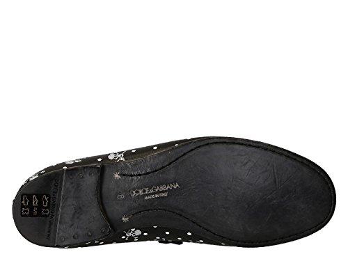 Mocassins Dolce & Gabbana en cuir noir tête de mort - Code modèle: CA6862 AP735 8K895 Noir