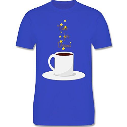 Küche - Kaffee-Tee-Spruch - Herren Premium T-Shirt Royalblau