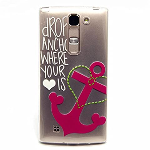 MUTOUREN LG Spirit 4G LTE H420 H422 H440N C70 case cover Soft Silicone Bumper Ultra Thin Slim Flexible Cover Case ,High Quality TPU Fashion Design Protective Back Rubber Shell Perfect Fitted Edge with Cute Printed Pattern-love Cupid's