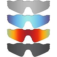 MRY 4 Pares polarizadas Lentes de Repuesto para Oakley Radar EV Path Sunglasses-Stealth Negro