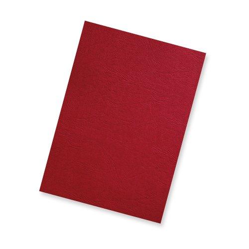 100 Einbanddeckel A4 Lederstruktur rot