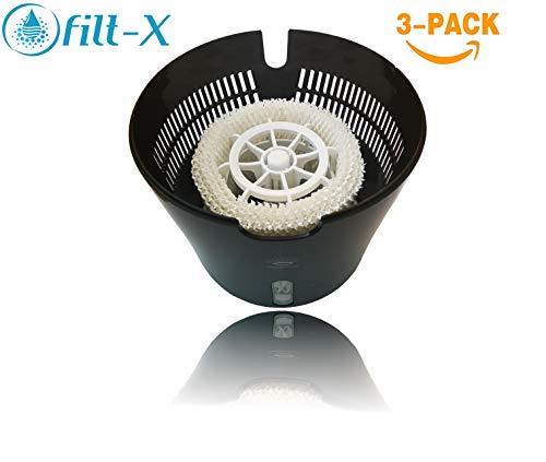 [3 Filter] - Filt-X Luftbefeuchter Filter für Philips Luftbefeuchter HU4813, HU4811, HU4803, HU4801