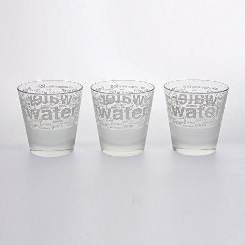 Cerve - Lot de 3 gobelets aqua blanc 25 cl