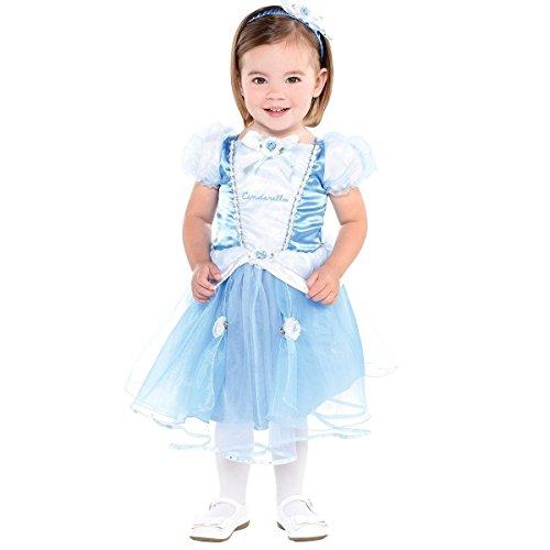 Kleid bis Cinderella Baby/Kleinkind Kostüm, (Outfits Cinderella)