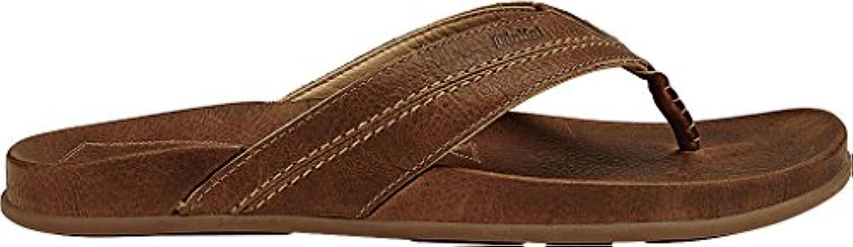 OluKai Mohalu   Mens Leather Sandals Ginger/Ginger   14