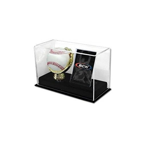 BCW Deluxe Acrylic Gold Glove Baseball and Card Display