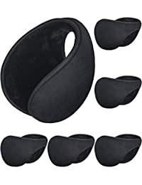 Sumind 6 Packung Ohrenschützer, Winter Draussen Earbags Schwarz Ohrwärmer