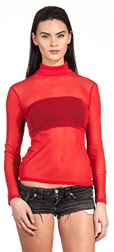 Loomiloo -  Maglia a manica lunga  - Donna Red - Red