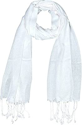Dolphin Men's and Women's Cotton Scarf (Black and White, 5XL) Combo Pack of 2