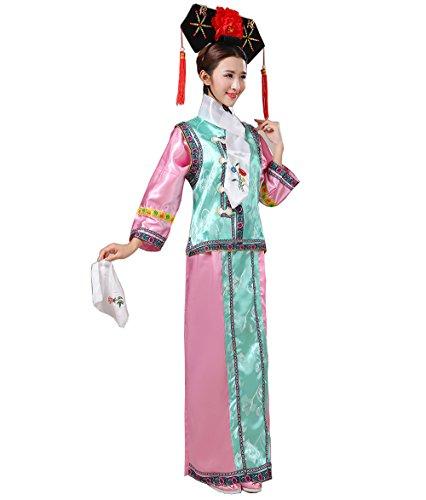 Kleidung Altes Kostüm Prinzessin Königliches Kleid Palazzo Kostüme Studio Fotografie 6 Farben optional (inklusive Kopfschmuck) (Farbe : E, größe : Height 160-170cm) (Chinesischen Qing Dynastie Kostüm)