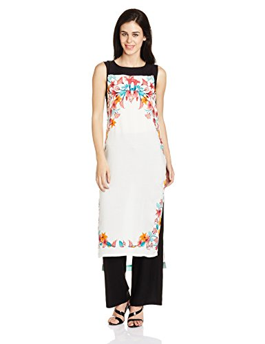 W for Woman Women's Straight Kurta (16FE15679-11626_Ecru_10)  available at amazon for Rs.679