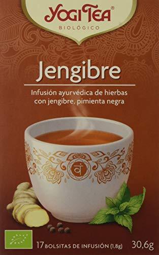 Yogi Tea Zenzero, Infusión de Hierbas Jengibre, 17 bolsitas de infusion de...