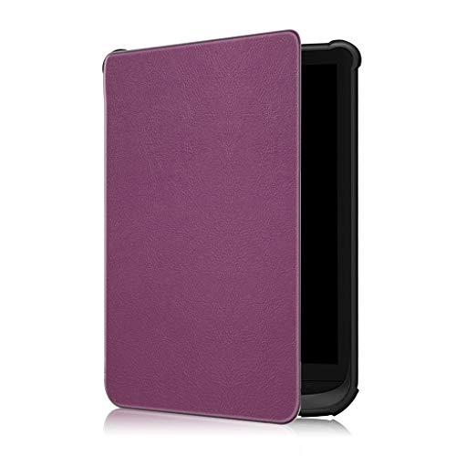 CHshe®--Funda Para Tableta, Funda Delgada de Cuero Inteligente Para Pocketbook 632/627/616 Lux...