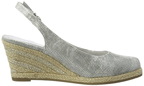 Marco Tozzi 29608, Sandales Bout Ouvert Femme Argent (Silver Metall. 933)