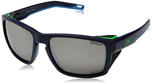 Match-brillen-brillen Herren (Julbo Shield Sonnenbrille Unisex, Uni, Shield, Bleu Foncé/Bleu/Vert)