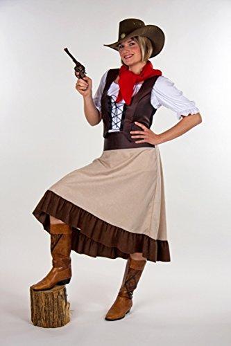 Saloon Kostüm Western (Saloon - Lady Westerngirl Kostüm gr)