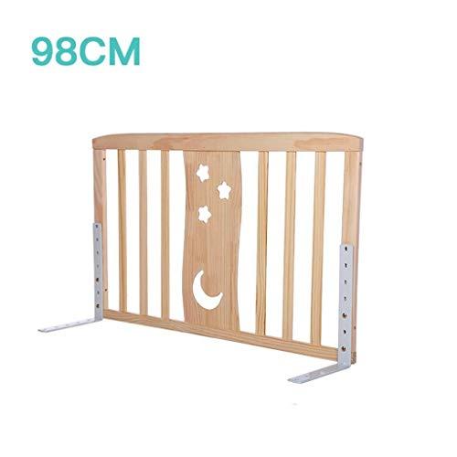 MUMA Holz-Bettgitter, King-Size-Bett Universal-Bettgitter Baby-Fallschutzleiste Vertikal-Lift-Bettgitter Hoch 76cm (Size : 98cm) (King-size-holz-bett)
