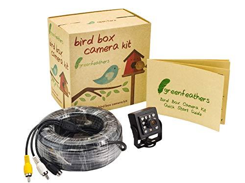 CCD-Bird Box Kamera mit IR Nacht Vision 700Linien und 20m AV-Kabel