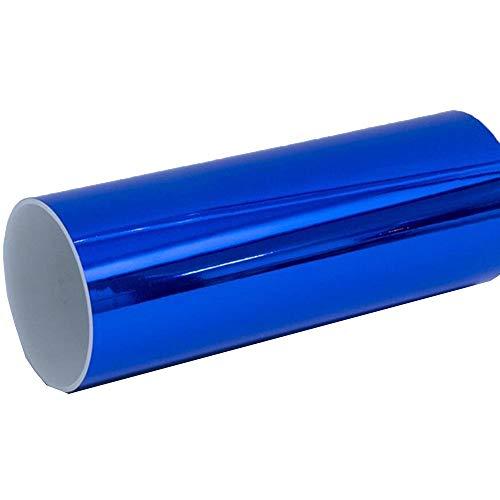 Hoho blu metallizzato cromato lucido velocità auto vinile pellicola da 152,4x 50,8cm