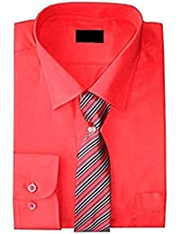 e4fe0fc1e8df0e Shirt And Tie Set Boys Formal Smart Shirt Long Sleeved By Device Ages 1Y-