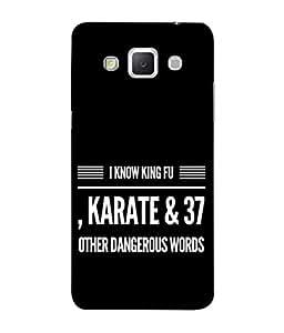 PrintVisa Designer Back Case Cover for Samsung Galaxy Grand 3 :: Samsung Galaxy Grand Max G720F (Funny Dangers Word I Know Karate Kung Fu Fighting )