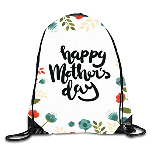 gthytjhv Shark and Diver Sackpack Drawstring Backpack Waterproof Gymsack Daypack for Men Women Happy Mothers day10 Lightweight Unique 16.9x14.2 (Indische Währung)
