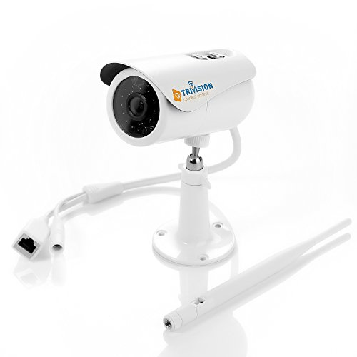 Trivision Outdoor Security Camera Wireless Wi-Fi, POE, HD 1080P, IP66  Waterproof, Wide View Angle,15M IR Night Vision, Free App for iPhone, iPad,