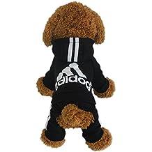 LifeWheel Pet Dog Jumpsuit Hood Jacket Pullover Cat Outwear Costume, Black Small