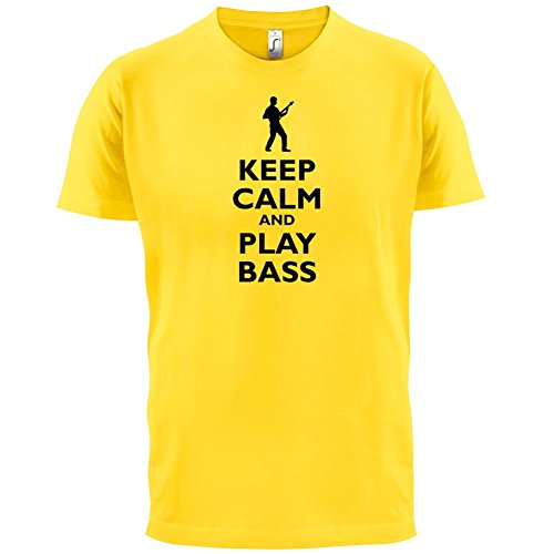 Keep Calm and Play Bass Guitar - Herren T-Shirt - 13 Farben Gelb