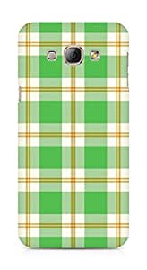 Amez designer printed 3d premium high quality back case cover for Samsung Galaxy A8 (green checks )