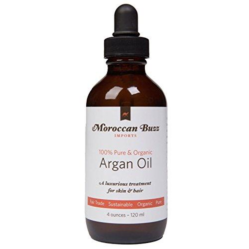 Moroccan Buzz biologique, commerce équitable e huile d'argan, 4 oz (120 ml) 125 grammes.