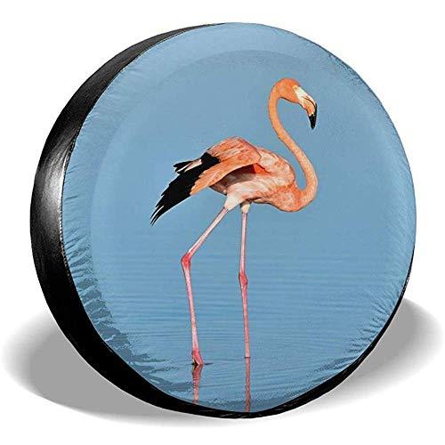 Hiram Cotton Spare Tire Cover Flamingo On Water Ruota di Scorta Copertura Pneumatici Fuoristrada velocità Estrema Overdrive Univers