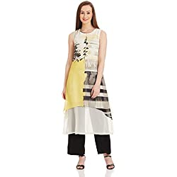 W for Woman Straight Kurta (17FE16474-58533_10_YELLOW)