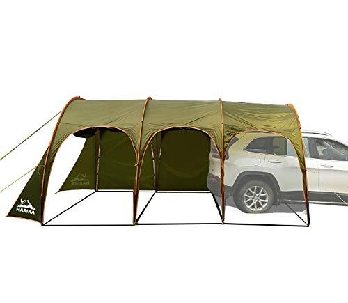 Hasika Camping-Tunnelzelt, wasserdicht, tragbar, für 8-10 Personen, für Auto, 4,3 x 3 m