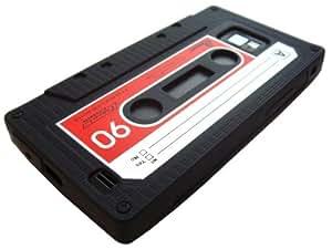 Xcessor Cassette Rétro Étui En Silicone Pour Samsung Galaxy S2 i9100. Noir