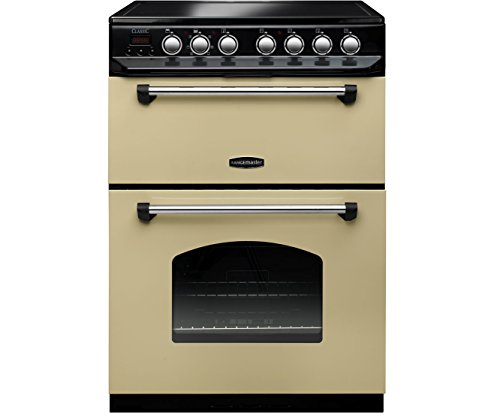 Rangemaster Classic 60 Cooker - Freestanding - CLAS60ECCR/C - Cream / Chrome Best Price and Cheapest
