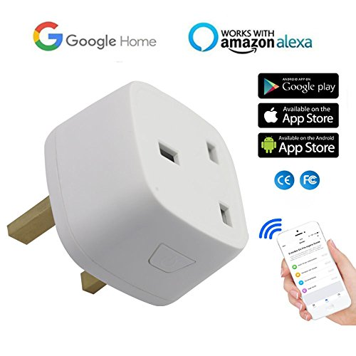 Wifi Smart Plug - Mini Outlets Smart Socket Wireless Remote Control Timing Function Control Your Electric Devices Compatible with Amazon Alexa and Google Assistant for Household Electrical Appliances, No Hub Required