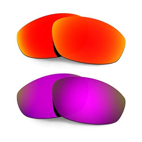 HKUCO Verstärken Ersatz-Brillengläser für Oakley Whisker Sonnenbrille Rot/Lila TAC Polarisiert