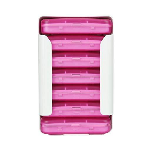 7 Tage Woche Pillen Kapsel Fall Veranstalter Multicolor Medizin Tablet Storage Dispenser Fall Home Office Tavel verwenden(Rosa)