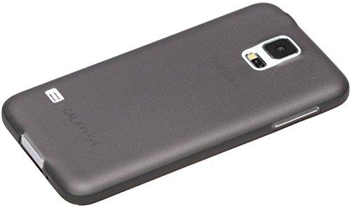 itronik® 0,35mm Ultra Slim flacher Bumper - die dünnste flexible Schutzhülle für Samsung Galaxy S5 Mini SM-G800 - Bumpers Case Hülle Schale Schutz Tasche - schwarz transparent durchsichtig