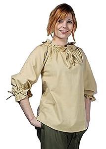 Epic Armoury- Pirate Shirt-Desert Beige-M Camisa, Color, Medium (Iron Fortress 310501M)