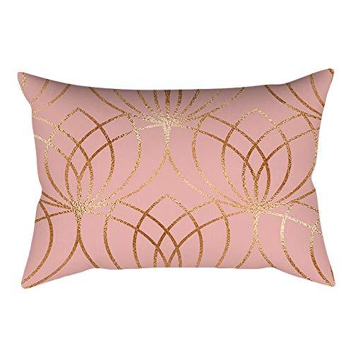 UYSDF Fashion Pillowcase 30 * 50 cm,Rose Gold Pink Cushion Cover Square Pillowcase Home Decoration(30cm * 50cm)