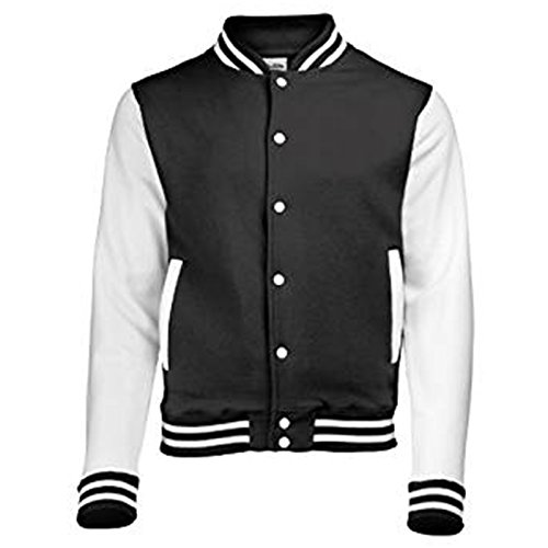 AWDis Herren Modern Jacke Jet Black / White