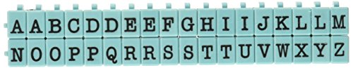 Kontakt USA cu-07106pegz Großbuchstaben Alphabet Stempel Set, Medium, Tiffany Blau