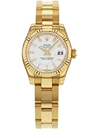 Lady Datejust Automatic White Dial 18k Yellow Gold Watch WSO