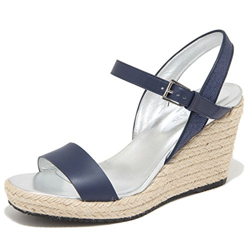9842M sandalo zeppa HOGAN scarpe donna sandals shoes woman blu [37.5]