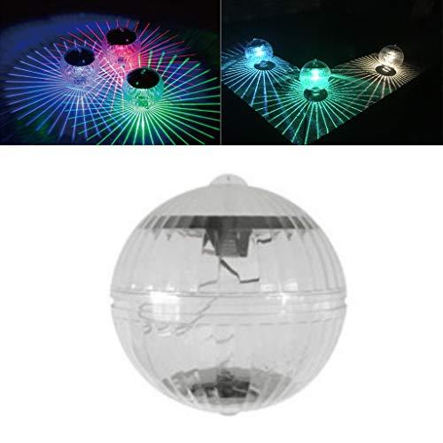 WuLi77 Wasserdichte Teich-Solarleuchten mit wechselnden Farben, LED, schwimmende Solar-Gartenlichter für Schwimmbad, Teich, Außenbereich, Garten