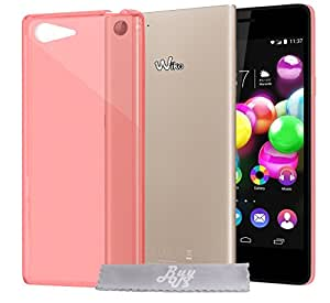 Coque Gel transparent Rouge Wiko Highway Pure 4G + Stylet + 3 Films OFFERTS