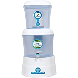 Kinsco Aqua Mineral Pot 16 L Gravity Water Purifier (White And Blue)