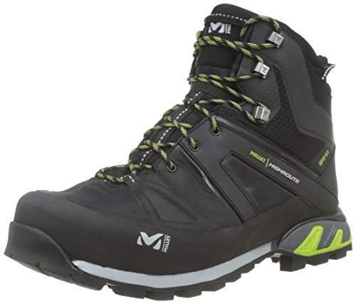 Millet Route GTX, Zapatos de High Rise Senderismo para Hombre, Negro Black/Acid Green 7216, 44 2/3...